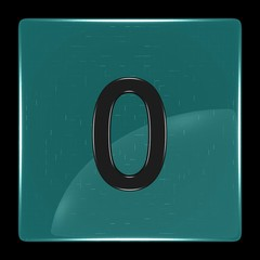 Green icon with number zero