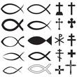 Obrazy na płótnie, fototapety, zdjęcia, fotoobrazy drukowane : Christian symbols