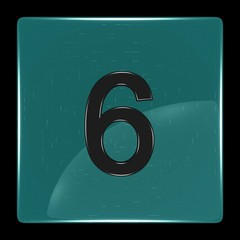 Green icon with number six