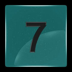 Green icon with number seven