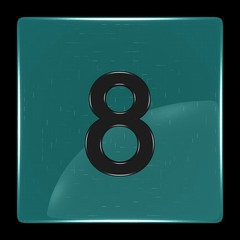 Green icon with number eight