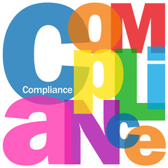 """COMPLIANCE"" Letter Collage (lean business process improvement)"