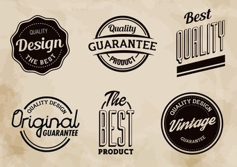 Vintage Vector Labels Collection