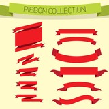 Vector red bow collection