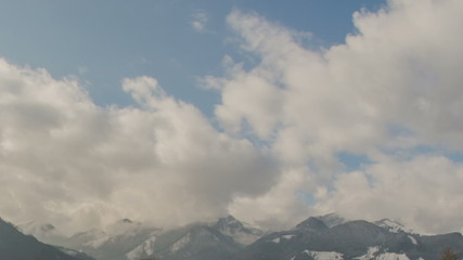 Tirol Austria mountains time lapse