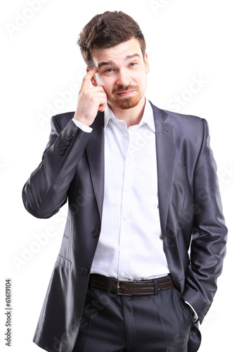 Young frustrated and stressed businessman