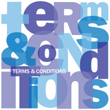 """TERMS AND CONDITIONS"" Letter Collage (contract law use button)"