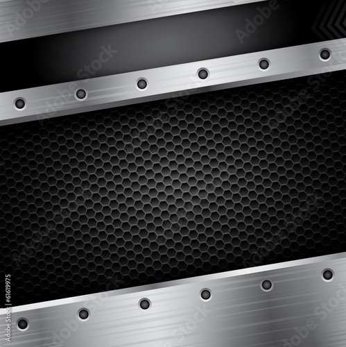 Metal background with black pattern