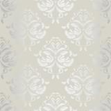 seamless wallpaper.damask pattern.floral background - 61620194