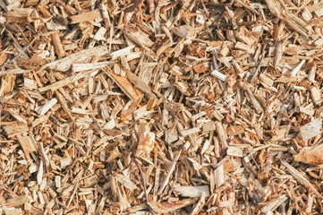 background of wood chip mulch