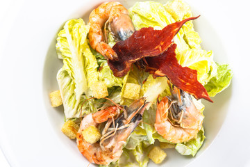 Seafood salad with shrimp