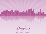 Brisbane skyline in purple radiant orchid