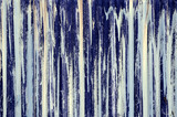 blue paint streaks on corrugated iron