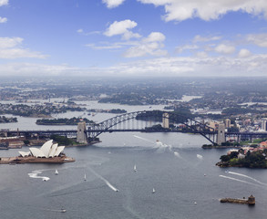 Sydney Helicopter Bridge Opera