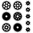 Gears. Set on a white background.