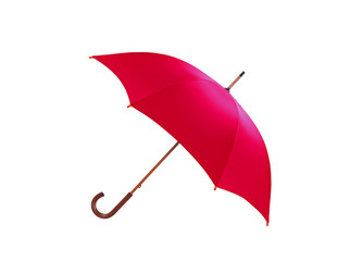 red umbrella isolated on white