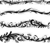 Set of seamless horizontal patterns