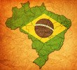 administration on map of brazil