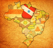 para state on map of brazil