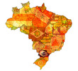parana state on map of brazil