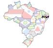 pernambuco state on map of brazil