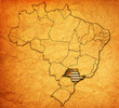 sao paulo state on map of brazil