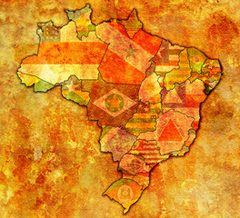 sergipe state on map of brazil