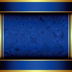 Abstract Gold and Blue Menu