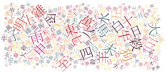 chinese alphabet background