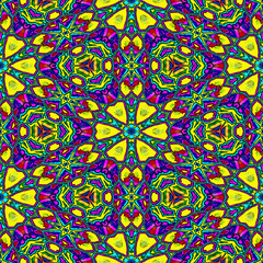 Seamless floral kaleidoscope wallpaper