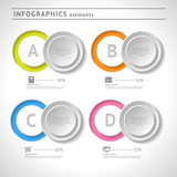 Business infographics elements. Circle design template