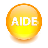 bouton internet aide icon orange