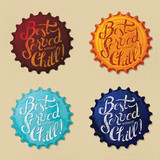 Retro bottle cap Design - Best Served totally Chill