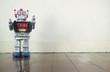 Leinwanddruck Bild - old robot  toy