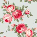 Wallpaper with flowers - 61624551