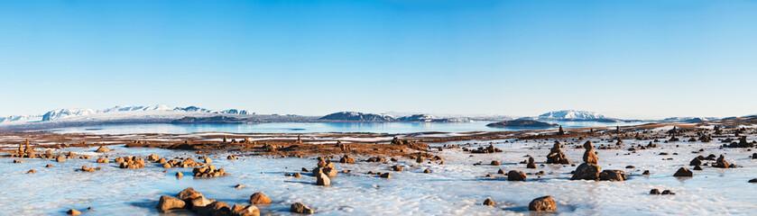 Icelandic landscape panorama 1x3.5 Ratio