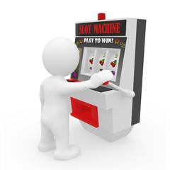 Mr. Smart Guy with Slot Machine