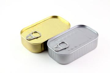 Scatole di latta oro e argento