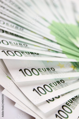 Stack of 100 euro bills