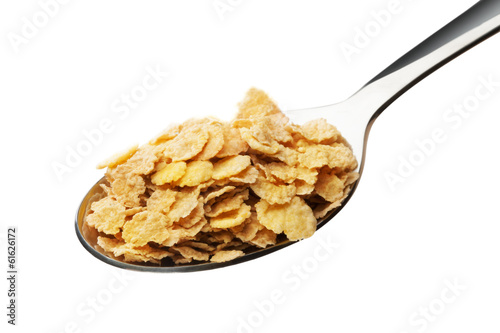 Cornflakes on the spoon