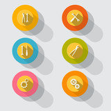 Circle Tools Vector Icons