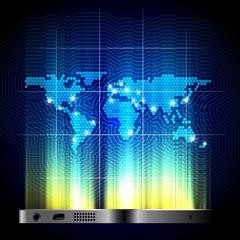 Global telecommunication concept