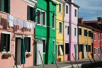 Pink Green and Yellow in Burano