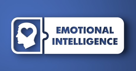 Emotional Intelligence in Flat Design Style.