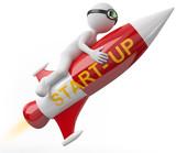 Start up Rakete poster