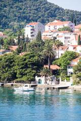 White Cabin Cruiser Docked in Croatia