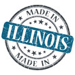 made in Illinois blue round grunge isolated stamp