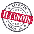 made in Illinois red round grunge isolated stamp