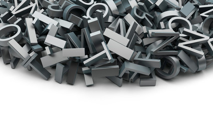 heap of letters