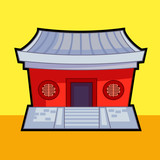 Chinese temple vector